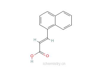 CAS:13026-12-5_3-(1-萘基)丙烯酸的分子结构