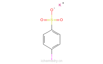 CAS:13035-63-7_4-碘苯磺酸钾的分子结构