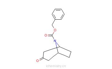 CAS:130753-13-8_N-苄氧羰基-去甲托品酮的分子结构