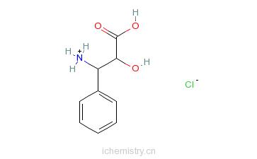 CAS:132201-32-2_(2R,3S)-3-苯基异丝氨酸盐酸盐的分子结构