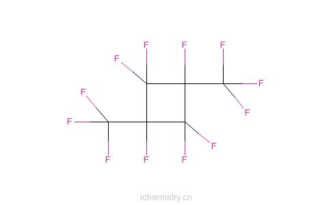 CAS:13221-71-1_1,1,2,3,3,4-六氟-2,4-二(三氟甲基)环丁烷的分子结构