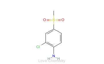CAS:13244-35-4_2-氯-4-甲基磺酰苯胺的分子结构