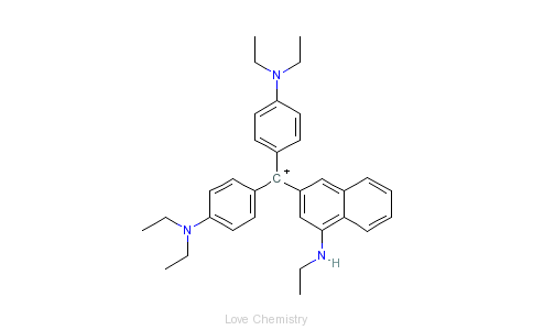 CAS:1325-87-7_颜料蓝1的分子结构