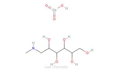 CAS:133-51-7_葡甲胺锑酸盐的分子结构