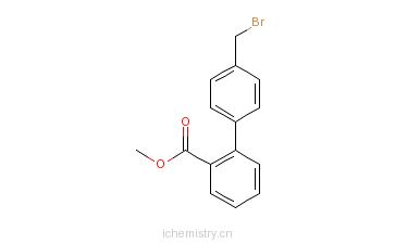 CAS:133240-26-3_4'-溴甲基-2-联苯甲酸甲酯的分子结构
