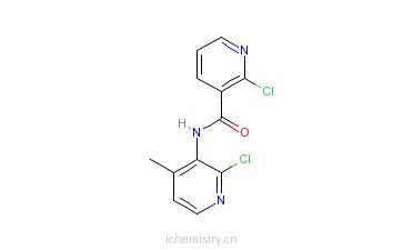 CAS:133627-46-0_2-氯-N-(2-氯-4-甲基吡啶-3-基)烟酰胺的分子结构