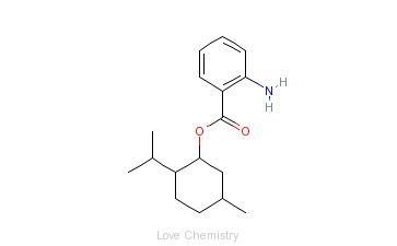CAS:134-09-8_5-甲基-2-(1-甲基乙基)环己醇2-氨基苯甲酸酯的分子结构