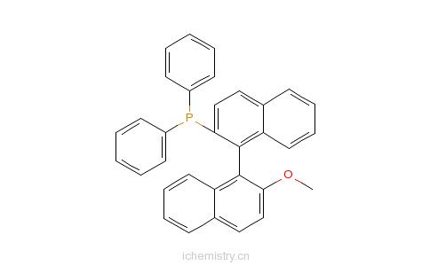 CAS:134484-36-9_S-(+)-1,1'-联萘-2'-甲氧基-2-二苯膦的分子结构