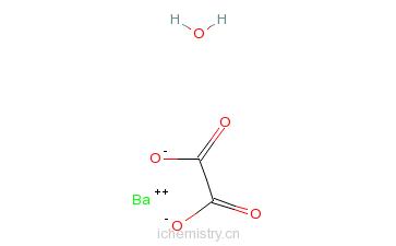 CAS:13463-22-4_草酸钡,一水的分子结构