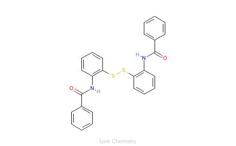 CAS:135-57-9_2,2'-二苯甲酰氨基二苯二硫的分子结构