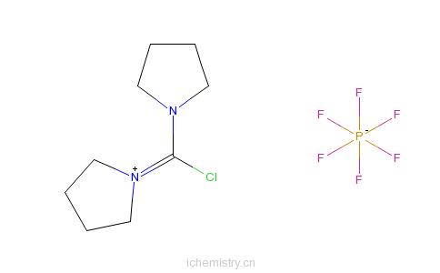 CAS:135540-11-3_1-(氯-1-吡咯烷基亚甲基)吡咯烷�f六氟磷酸盐的分子结构