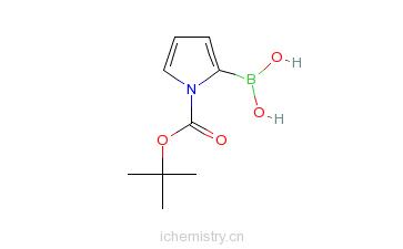 CAS:135884-31-0_1-Boc-吡咯-2-硼酸的分子结构