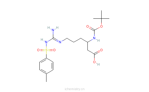 CAS:136271-81-3_N-Boc-N'-对甲苯磺酰基-L-beta-高精氨酸的分子结构