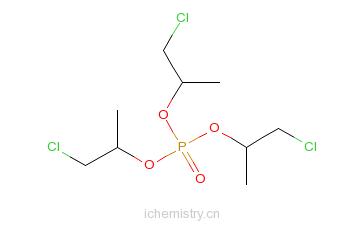 CAS:13674-84-5_磷酸三(1-氯-2-丙基)酯的分子结构