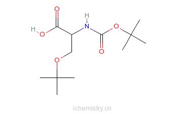 CAS:13734-38-8_N-BOC-O-叔丁基-L-丝氨酸的分子结构