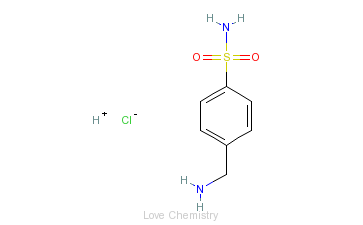 CAS:138-37-4_盐酸磺胺米隆的分子结构