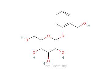 CAS:138-52-3_水杨苷的分子结构