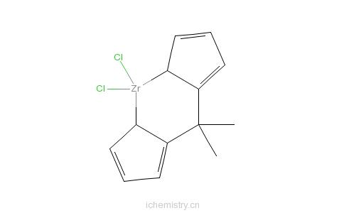 CAS:138533-79-6_异丙亚基双(环戊二烯)二氯化锆的分子结构