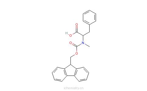 CAS:138775-05-0_N-芴甲氧羰酰基-N-甲基-D-苯丙氨酸的分子结构
