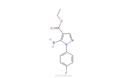 CAS:138907-68-3_5-氨基-1-(4-氟苯)吡唑-4-羧酸乙酯的分子结构