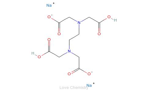 CAS:139-33-3_乙二胺四乙酸二钠的分子结构