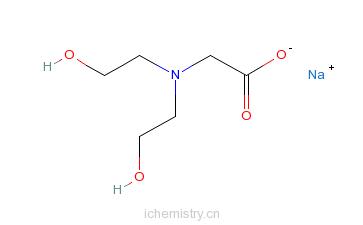 CAS:139-41-3_N,N'-二(2-羟乙基)甘氨酸钠的分子结构