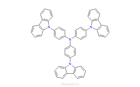 CAS:139092-78-7_4,4',4''-三(咔唑-9-基)三苯胺的分子结构