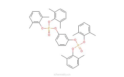 CAS:139189-30-3_间苯二酚双[二(2,6-二甲基苯基)磷酸酯]的分子结构