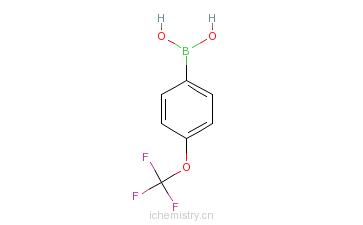 CAS:139301-27-2_4-三氟甲氧基苯硼酸的分子结构