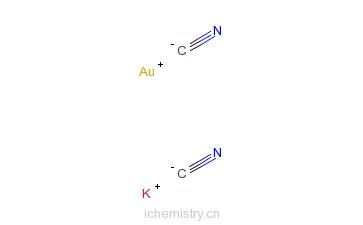CAS:13967-50-5_金氰化钾的分子结构