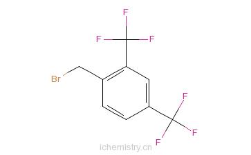 CAS:140690-56-8_2,4-双(三氟甲基)溴苄的分子结构