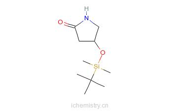 CAS:141629-19-8_(4S)-4-(叔丁基二甲基硅氧基)-2-吡咯烷酮的分子结构