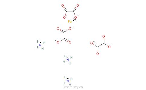 CAS:14221-47-7_草酸高铁铵的分子结构