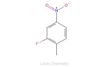 CAS:1427-07-2_2-氟-4-硝基甲苯的分子结构