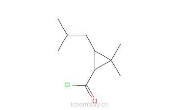 CAS:14297-81-5_菊酰氯的分子结构