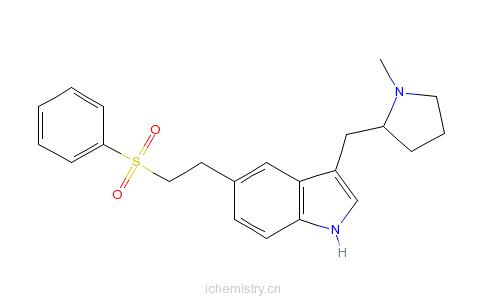 CAS:143322-58-1_依来曲普坦的分子结构