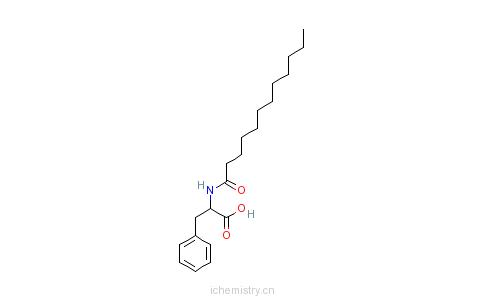 CAS:14379-64-7_N-十二碳酰基-L-苯丙氨酸的分子结构