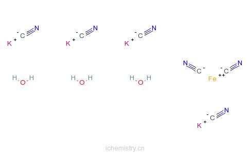 CAS:14459-95-1_黄血盐钾的分子结构