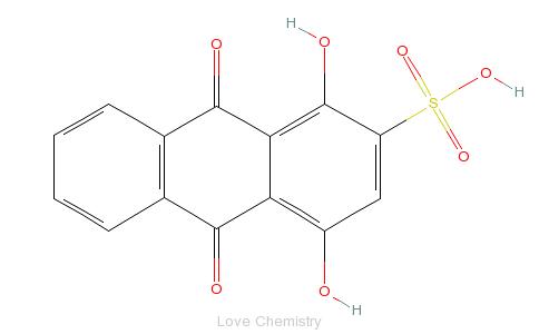 CAS:145-48-2_1,4-二羟基蒽醌-2-磺酸的分子结构