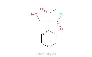 CAS:14510-37-3_乙酰托品酰氯的分子结构