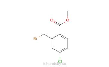 CAS:145908-29-8_2-溴甲基-5-氯苯甲酸甲酯的分子结构