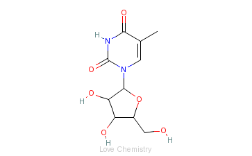 CAS:1463-10-1_5-甲基尿苷的分子结构