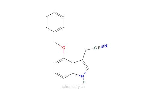 CAS:1464-11-5_4-苄氧基吲哚-3-乙腈的分子结构