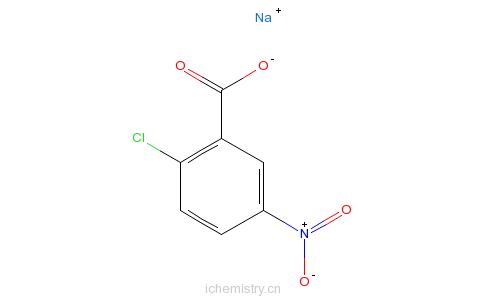 CAS:14667-59-5_2-氯-5-硝基苯甲酸钠的分子结构