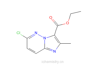 CAS:14714-18-2_6-氯-2-甲基咪唑并[1,2-B]哒嗪-3-羧酸乙酯的分子结构