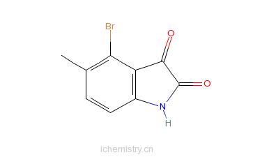 CAS:147149-84-6_4-溴-5-甲基靛红的分子结构