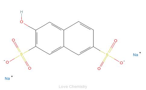 CAS:148-75-4_2-萘酚-3,6-二磺酸的分子结构
