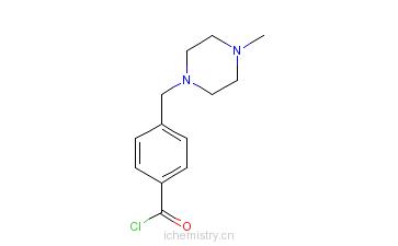 CAS:148077-69-4_4-(4-甲基哌嗪甲基)苯甲酰氯的分子结构
