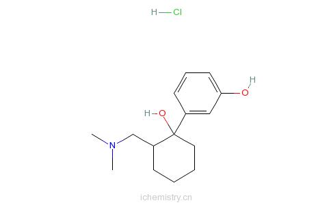 CAS:148262-77-5_(+)-O-去甲基曲马多盐酸盐的分子结构