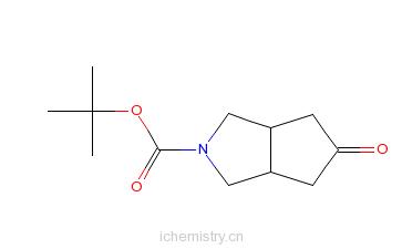CAS:148404-28-8_N-BOC-六氢-5-氧代环戊[C]并吡咯的分子结构